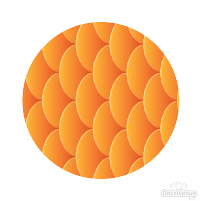 Goldfish Scales Pattern Polka Dot Circles Reusable Wall Decals | Shapes & Patterns | DecalVenue.com