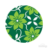 Green Floral Pattern Polka Dot Circles Reusable Wall Decals - Shapes & Patterns  / Decal Venue