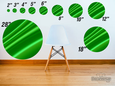 Green Satin Pattern Polka Dot Circles Reusable Wall Decals | Shapes & Patterns | DecalVenue.com