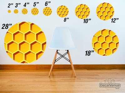 Honeycomb 002 Pattern Polka Dot Circles Reusable Wall Decals | Shapes & Patterns | DecalVenue.com