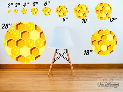Honeycomb 003 Pattern Polka Dot Circles Reusable Wall Decals | Shapes & Patterns | DecalVenue.com