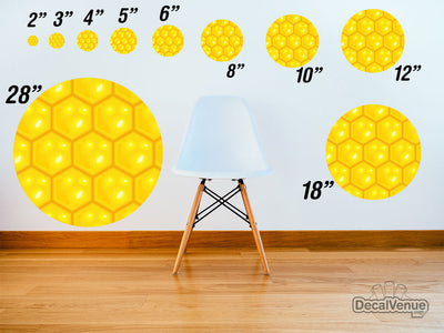 Honeycomb Pattern Polka Dot Circles Reusable Wall Decals | Shapes & Patterns | DecalVenue.com