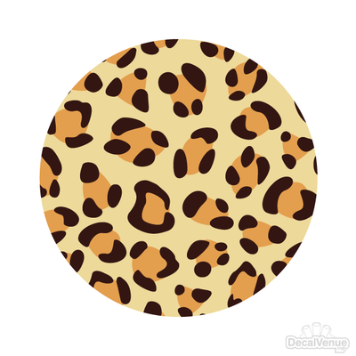 Leopard Print 002 Pattern Polka Dot Circles Reusable Wall Decals | Shapes & Patterns | DecalVenue.com