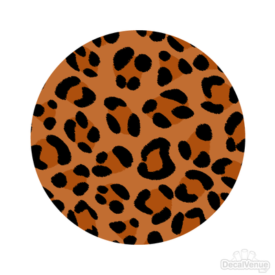 Leopard Print Pattern Polka Dot Circles Reusable Wall Decals | Shapes & Patterns | DecalVenue.com