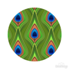 Peacock Feathers Pattern Polka Dot Circles Reusable Wall Decals | Shapes & Patterns | DecalVenue.com