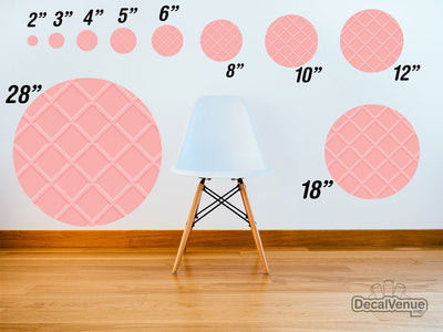 Pink Wafer Pattern Polka Dot Circles Reusable Wall Decals | Shapes & Patterns | DecalVenue.com
