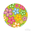 Spring Floral 018 Pattern Polka Dot Circles Reusable Wall Decals