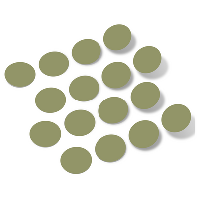 Olive Green Polka Dot Circles Wall Decals