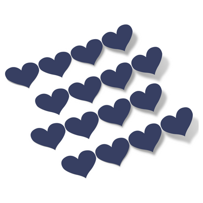 Navy Blue Hearts Vinyl Wall Decals