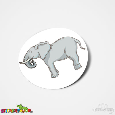 StickerFavor® Elephant 001 Vinyl Decal Sticker Favors (Qty 103 - assorted sizes) | StickerFavor® | DecalVenue.com