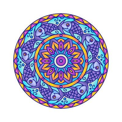 Fish Mandala Decal-Shapes & Patterns-Decal Venue