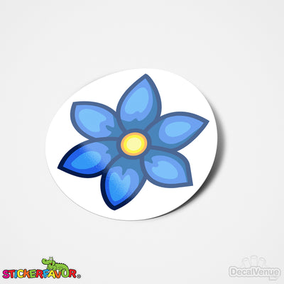 StickerFavor® Blue Flower 001 Vinyl Decal Sticker Favors (Qty 103 - assorted sizes) | StickerFavor® | DecalVenue.com