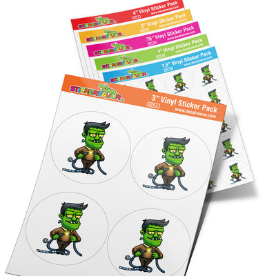 StickerFavor® Frankenstein 001 Vinyl Decal Sticker Favors (Qty 103 - assorted sizes) | StickerFavor® | DecalVenue.com