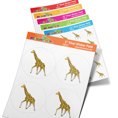 StickerFavor® Giraffe 001 Vinyl Decal Sticker Favors (Qty 103 - assorted sizes) | StickerFavor® | DecalVenue.com