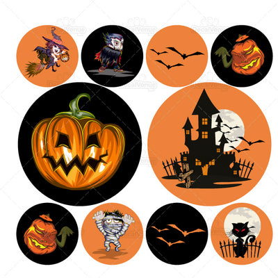 Halloween Polka Dot Circles Reusable Wall Decals Stickers | Polka Dot Circles | DecalVenue.com