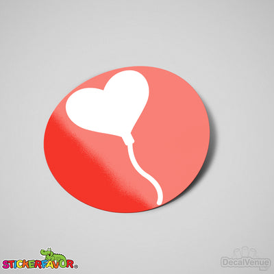 StickerFavor® Heart Balloon 001 Vinyl Decal Sticker Favors (Qty 103 - assorted sizes) | StickerFavor® | DecalVenue.com