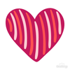 Heart Candy Stripe Decals - Shapes & Patterns  / Decal Venue