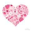 Love Pattern Pink Heart Decals 001-Shapes & Patterns-Decal Venue