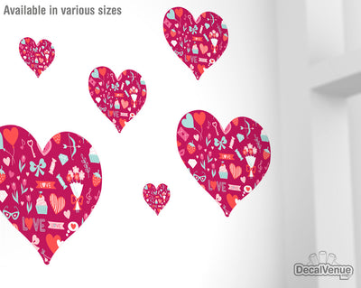 Love Pattern Hearts and Candy Decals 006 | Shapes & Patterns | DecalVenue.com