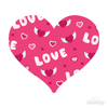 Love Pattern Pink Heart Decals 002 | Shapes & Patterns | DecalVenue.com