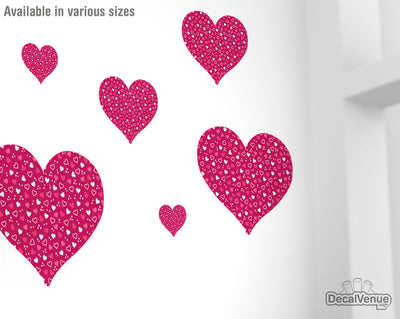 Love Pattern Pink Heart Decals 003 | Shapes & Patterns | DecalVenue.com