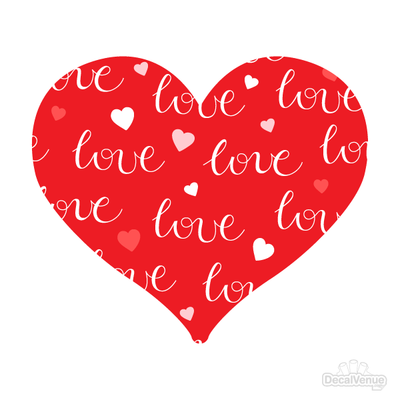 Love Pattern Heart Decals 007 | Shapes & Patterns | DecalVenue.com