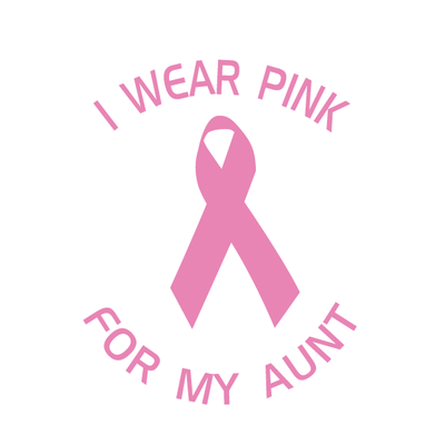 I Wear Pink For My Aunt Decal | Family & People | DecalVenue.com