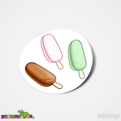 StickerFavor® Ice Cream 001 Vinyl Decal Sticker Favors (Qty 103 - assorted sizes) | StickerFavor® | DecalVenue.com