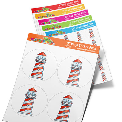 StickerFavor® Lighthouse 001 Vinyl Decal Sticker Favors (Qty 103 - assorted sizes) | StickerFavor® | DecalVenue.com