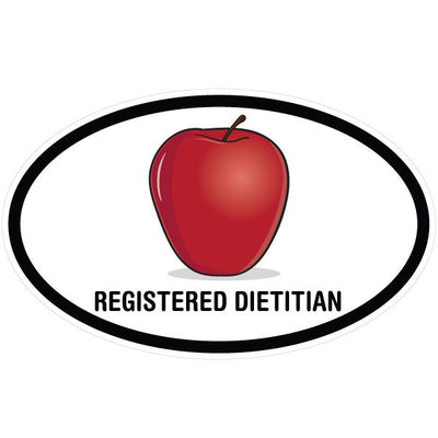 Registered Dietitian Apple Oval Decal | Occupation & Industries | DecalVenue.com