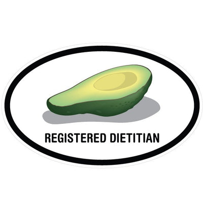 Registered Dietitian Avocado Oval Decal | Occupation & Industries | DecalVenue.com