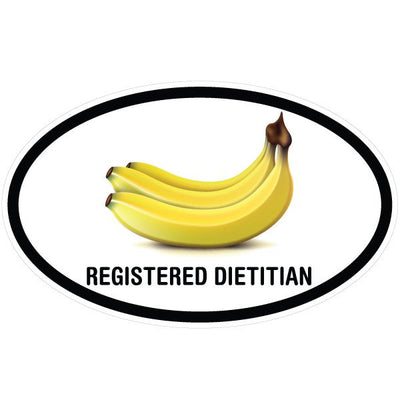 Registered Dietitian Bananas Oval Decal | Occupation & Industries | DecalVenue.com