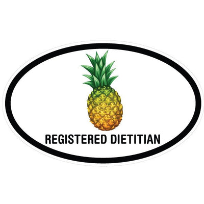 Registered Dietitian Pineapple Oval Decal | Occupation & Industries | DecalVenue.com