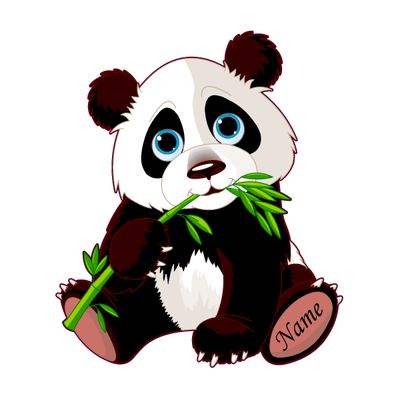Personalized Cute Panda Decal [001]-Custom / Personalized-Decal Venue