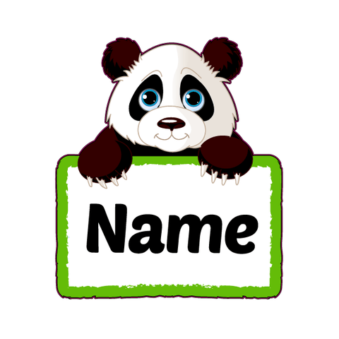 Personalized Cute Panda Decal [002]-Custom / Personalized-Decal Venue