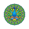 Peacock Mandala Decal | Shapes & Patterns | DecalVenue.com