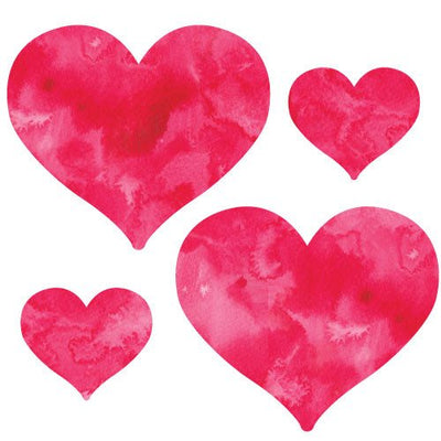 Watercolor Red Heart Decals | Shapes & Patterns | DecalVenue.com