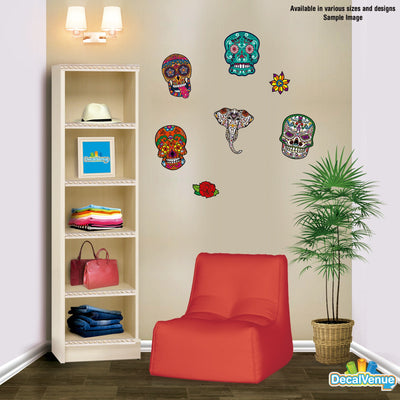 Sugar Skull Decal [024] | Shapes & Patterns | DecalVenue.com