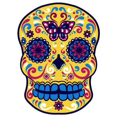 Sugar Skull Decal [004] | Shapes & Patterns | DecalVenue.com