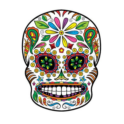 Sugar Skull Decal [008] | Shapes & Patterns | DecalVenue.com