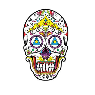 Sugar Skull Decal [009]-Shapes & Patterns-Decal Venue
