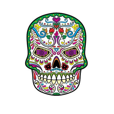 Sugar Skull Decal [010] | Shapes & Patterns | DecalVenue.com