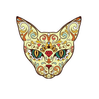 Sugar Skull Cat Decal [017] | Animals | DecalVenue.com