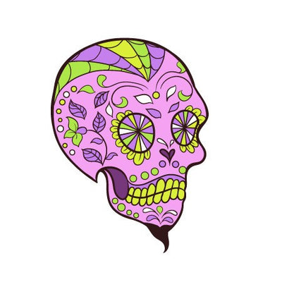 Sugar Skull Decal [020]-Shapes & Patterns-Decal Venue
