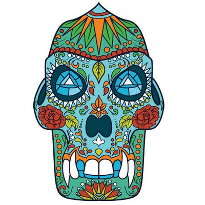 Sugar Skull Decal [026]-Shapes & Patterns-Decal Venue