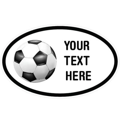 Personalized Soccer Oval Decal | Custom / Personalized | DecalVenue.com