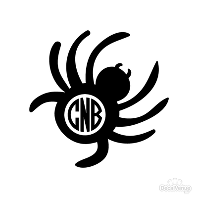 Spider Monogram Initials Decal | Custom / Personalized | DecalVenue.com