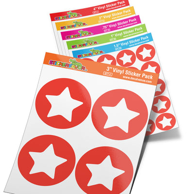 StickerFavor® Star Icon 001 Vinyl Decal Sticker Favors (Qty 103 - assorted sizes) | StickerFavor® | DecalVenue.com