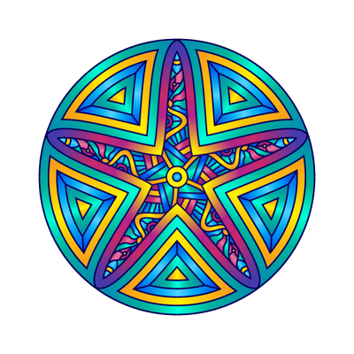 Starfish Mandala Decal | Shapes & Patterns | DecalVenue.com