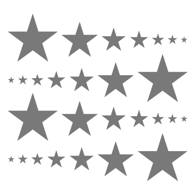 Grey Stars Vinyl Wall Decals-Shapes & Patterns-Decal Venue